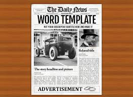 Creative Newspaper Template Vintage Word Newspaper Template