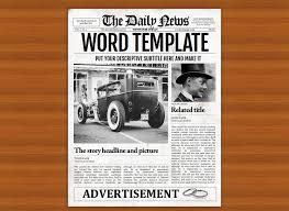 Newspaper Front Template Vintage Word Newspaper Template