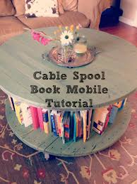 Cable Spool to bookshelf coffee table-a tutorial. Sass in Spades. | The