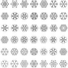 Snowflake Patterns Fascinating Different Snowflake Patterns Design Elements Vector Free Vector In