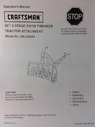 sears craftsman lawn garden tractor