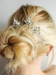 set of 3 swarovski crystal hair pins