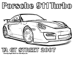 Kleurplaat Porsche Carrera Gt Ausmalbild Ausmalbilder Kostenlos Zum