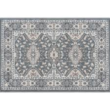 tayse rugs madison dark gray 2 ft x 3 ft ter area rug