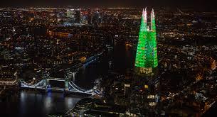 The Shard London Christmas Lights Schoolchildren Light Up The Shard For The Festive Season Rem
