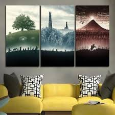image is loading 3 panel lord of the rings trilogy wall  on 3 panel wall art canvas with 3 panel lord of the rings trilogy wall art canvas unframed ebay