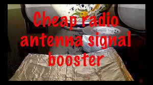 how to make a and temporary radio antenna signal booster