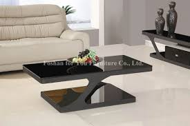 splendid black living room coffee table and side table design featuring white leather sofa