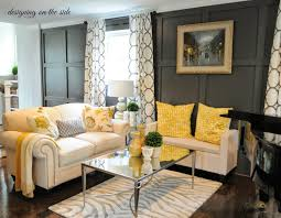 nice yellow cushions with adorable white sofa and amazing white room and board rugs