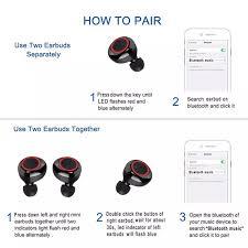 Tai Nghe Không Dây EsoGlobal Y50 Tai Nghe Nhét Tai TWS Bluetooth 5.0 Nút  Điều Khiển Không Dây