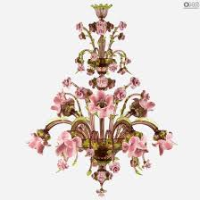 chandelier flowers and leaves murano glass flowers and leaf murano glass chandelier jpg