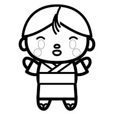 かわいい浴衣姿の男の子の無料イラスト商用フリー オイデ43