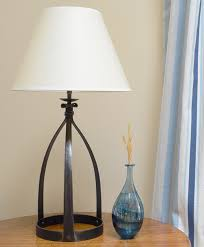 mitre wrought iron table lamp in natural black finish with 360mm 14