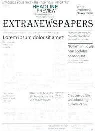 Microsoft Newspaper Article Template Newspaper Layout Template For Word Caseyroberts Co