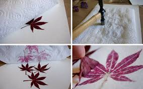 hammered leaf prints