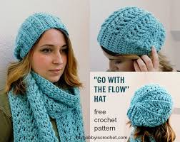 Crochet Patterns Hats Simple My Hobby Is Crochet Go with the Flow Hat Free Crochet Pattern