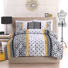 black yellow and white polka dot damask striped bedding dream gr medium size