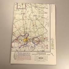 St Louis Sectional Chart 1969 Cincinnati Aeronautical Chart Vintage Map Of St Louis