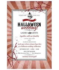 Halloween Wedding Invitations Halloween Wedding Invitations Your Guests Will Love Real Simple