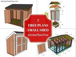 13 free small garden shed plans free