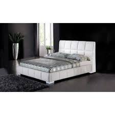 bedroom furniture black and white. GRAKO-3295 BEDS B-83K KING BED WHITE BLACK LEATHERETTE Bedroom Furniture Black And White
