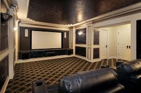 Decorations : Elegant Black White Color Decor Media Room Design Black  Leather Sectional Sofa Set Unique Pattern Floor Cool Glass Wall Lamp White  Projector ...