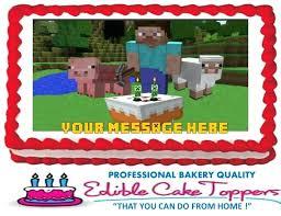 Minecraft Cake Topper 7 1 2 Inch Edible Amazon Babycakessite