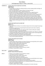 Computer Hardware Engineer Resume Samples Velvet Jobs