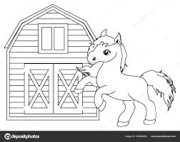 Kleine Schattige Paard Kleurplaat Stockfoto Tatty77tatty 158069246