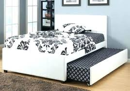 twin platform bed with trundle. Used Trundle Bed New White Leather Twin Platform With