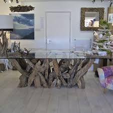 chta31 large natural driftwood table base