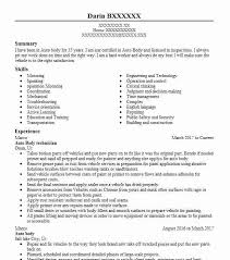 Sample Resume Auto Mechanic Auto Body Technician Resume Sample Technician Resumes