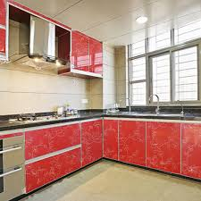 Red Gloss Kitchen Cabinets Red Gloss Kitchen Doors Promotion Shop For Promotional Red Gloss