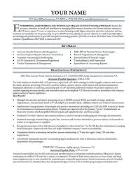 Accounts Payable Resume Template Free Examples Account Cmtsonabelorg
