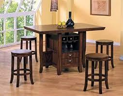 Image Marble Image Unavailable Amazoncom Amazoncom 5pc Counter Height Kitchen Island Table Stools Set