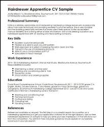 setting out a cv hairdresser apprentice cv sample myperfectcv
