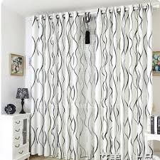 White Patterned Curtains Extraordinary Modern Black And White Striped Curtains Living Room