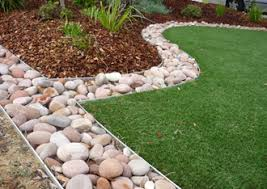 edging for gardens. Aluminium Garden Edging Is Perfect For Installing Synthetic Turf And Commonly Used Separating Different Coloured Stones From Each Other, Gardens -