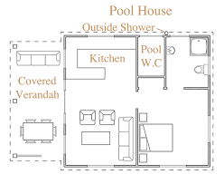 Concept Small Pool House Floor Plans Designs Design Shed Mansion Cabana With Decorating Ideas
