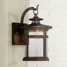 rustic exterior lighting franklin ironworksau201e hickory point 12 led outdoor wall lights rustic exterior lights c49