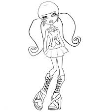 Small Picture Cute Draculaura Posing in Monster High Coloring Page Color Luna