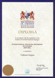 certificates and diplomas of mk audit mk audit diploma of the institute for certification of financial managers