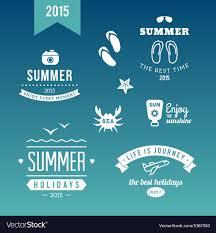 Retro Holidays Summer Holidays Design Elements Retro And Vintage Vector Image On Vectorstock