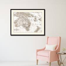 new zealand oceania australia vintage sepia map canvas print picture frame gifts home decor wall on home decor wall art nz with new zealand oceania australia vintage sepia map home decor wall art