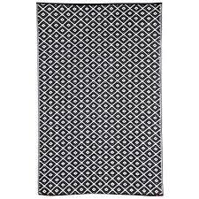 kimberley reversible indoor outdoor rug 90x179cm black