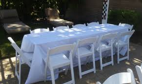 Our 8 ft Rectangular Tables for Rent | Wedding Banquet