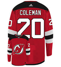 Coleman Adidas Hockey Home Authentic Blake Nhl Devils New Jersey
