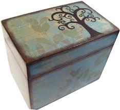 Decorative Recipe Box Recipe Box Decoupaged Tree Box Large Handcrafted Kitchen 3
