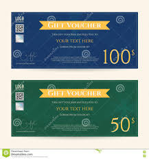 Coupon Format Template Gift Certificate Voucher Coupon Template Stock Vector