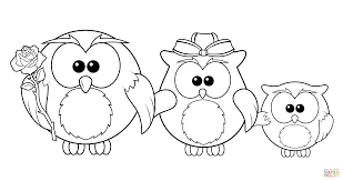 Small Picture Owl Family coloring page Free Printable Coloring Pages